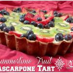 Summertime Fruit Mascarpone Tart