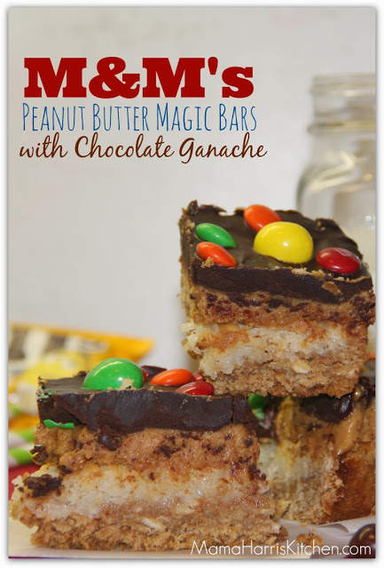 M Amp M S Peanut Butter Magic Bars With Chocolate Ganache