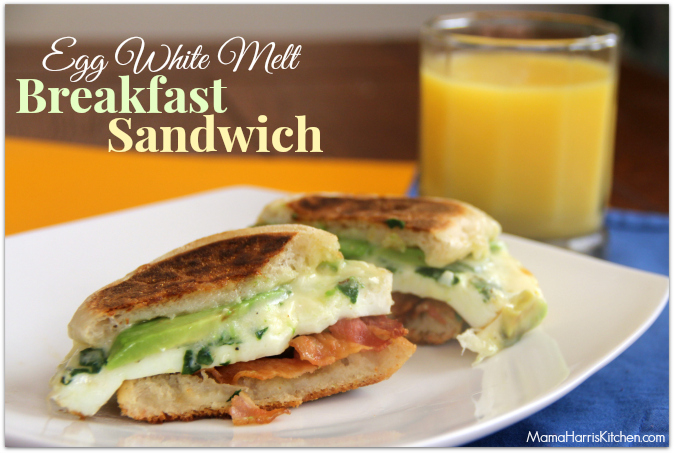 Egg White Breakfast Sandwich - Mama Harris' Kitchen