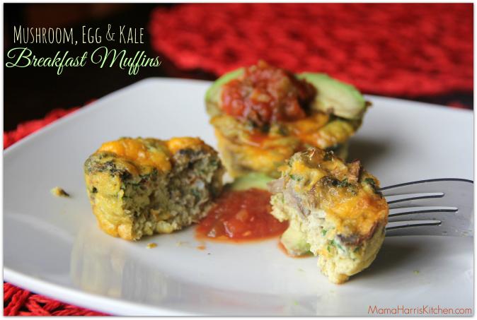Mushroom, Egg & Kale Breakfast Muffin #MushroomMakeover Week 3 AD