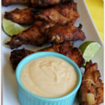 "Ad: Easy Party Food! Tyson ""Kicked-Up"" Grillin' Wings with Creamy Citrus Honey Dip"