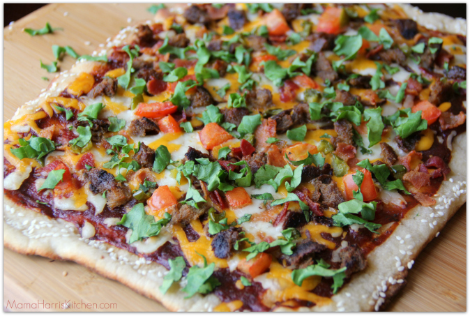 Spicy Cheeseburger Grilled Pizza