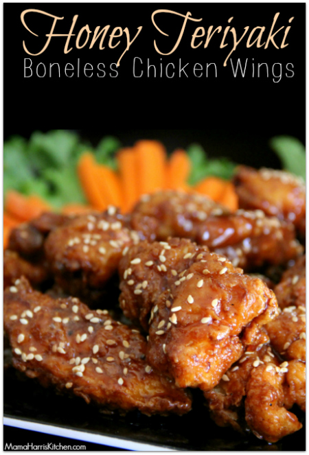 Honey Teriyaki Boneless Chicken Wings Chickswingit