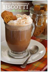 Pumpkin Snickerdoodle Biscotti with a Café Cocoa #ChooseSmart #shop #cbias - Mama Harris' Kitchen