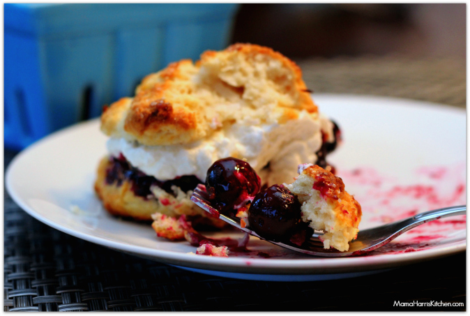 The blueberry coconut shortcake with lemon infused whipped cream ...