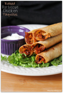 Baked Barbecue Chicken Taquitos with Kraft Barbecue Sauce #Evergriller #sponsored - Mama Harris' Kitchen
