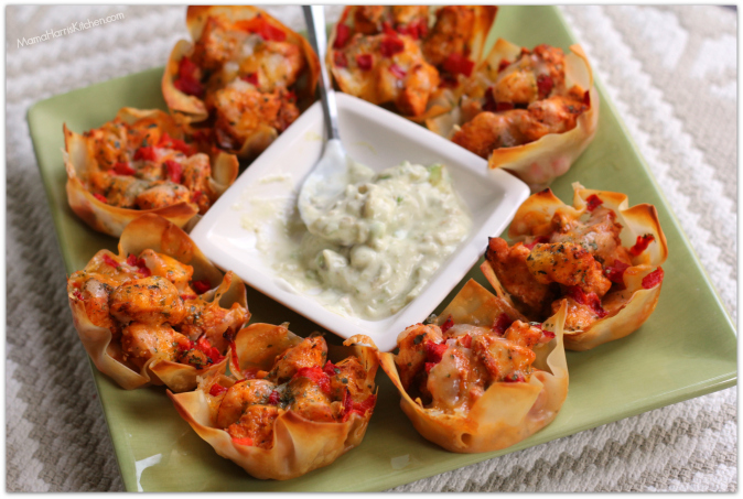 Creamy Chicken Taco Cups Recipes — Dishmaps