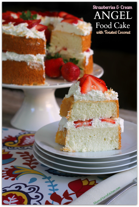 Angel Food Cake With Vanilla Strawberries Recipe — Dishmaps