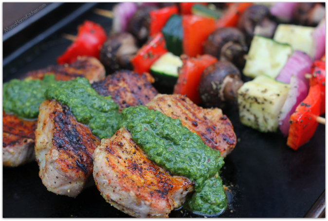Boneless Pork Chops with Chimichurri sauce #GrillPork National Pork ...