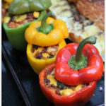 Chili Cheese Grilled and Stuffed Bell Peppers