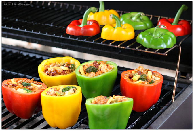 Chili Stuffed Bell Peppers With Melted Cheese Recipes — Dishmaps