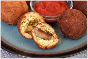 Cornbread Battered Breakfast Bites with Sausage and Egg #PANFan #ad #IC | Mama Harris' Kitchen