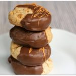 Peanut Butter Chip Cookies Dipped in Chocolate