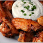 Grilled Honey Sriracha Wings with Herbed Yogurt Dip