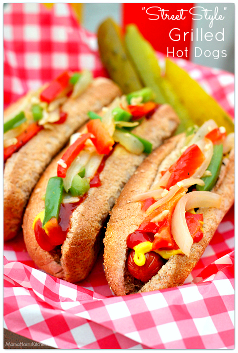 Street Style Grilled Hot Dogs