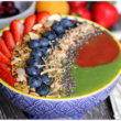 Cherry Apricot and Green Swirl Smoothie Bowl