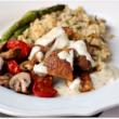 Sheet Pan Dinner: Chicken, Asparagus, Mushroom and Tomatoes