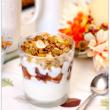 Apple Yogurt Parfaits with Homemade Fall Flavors Granola