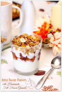 Apple Yogurt Parfaits with Homemade Fall Flavors Granola #StarbucksAtHome #SavorEverySip AD | Mama Harris' Kitchen