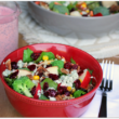 Crunchy Broccoli-Apple Salad with Creamy Raspberry Poppy Seed Dressing
