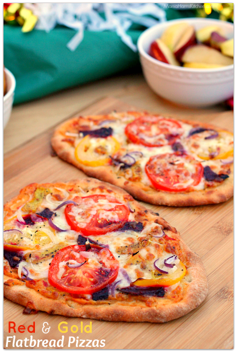 Red and Gold Flatbread Pizza